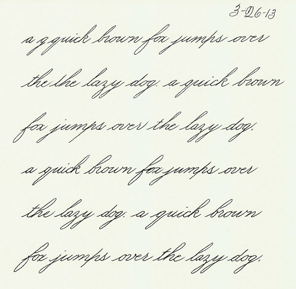 Practicing My Handwriting Steve Husting 39 S Calligraphy