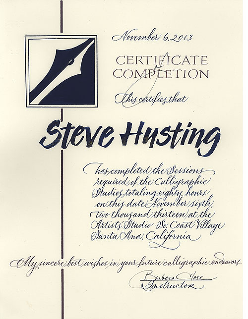 Steve husting s calligraphy page