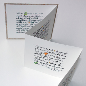Prayer Promises Accordion Book, swash Italic side