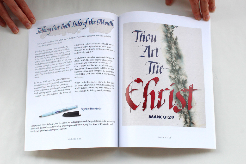 Inside pages of my Spiritual Calligraphy devotional book