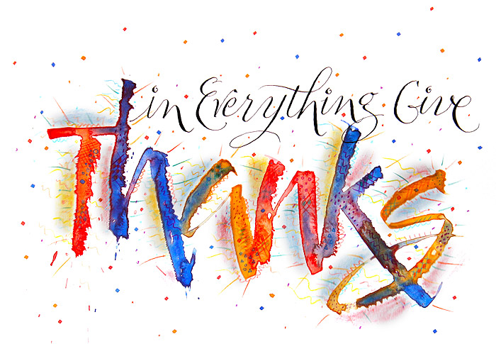 In Everything Give Thanks (art by Steve Husting)